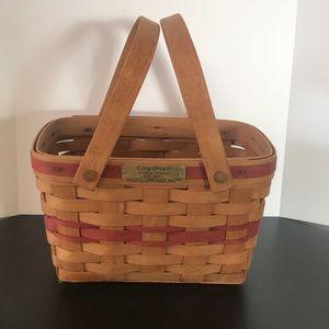 Longaberger 1992 Christmas collection basket